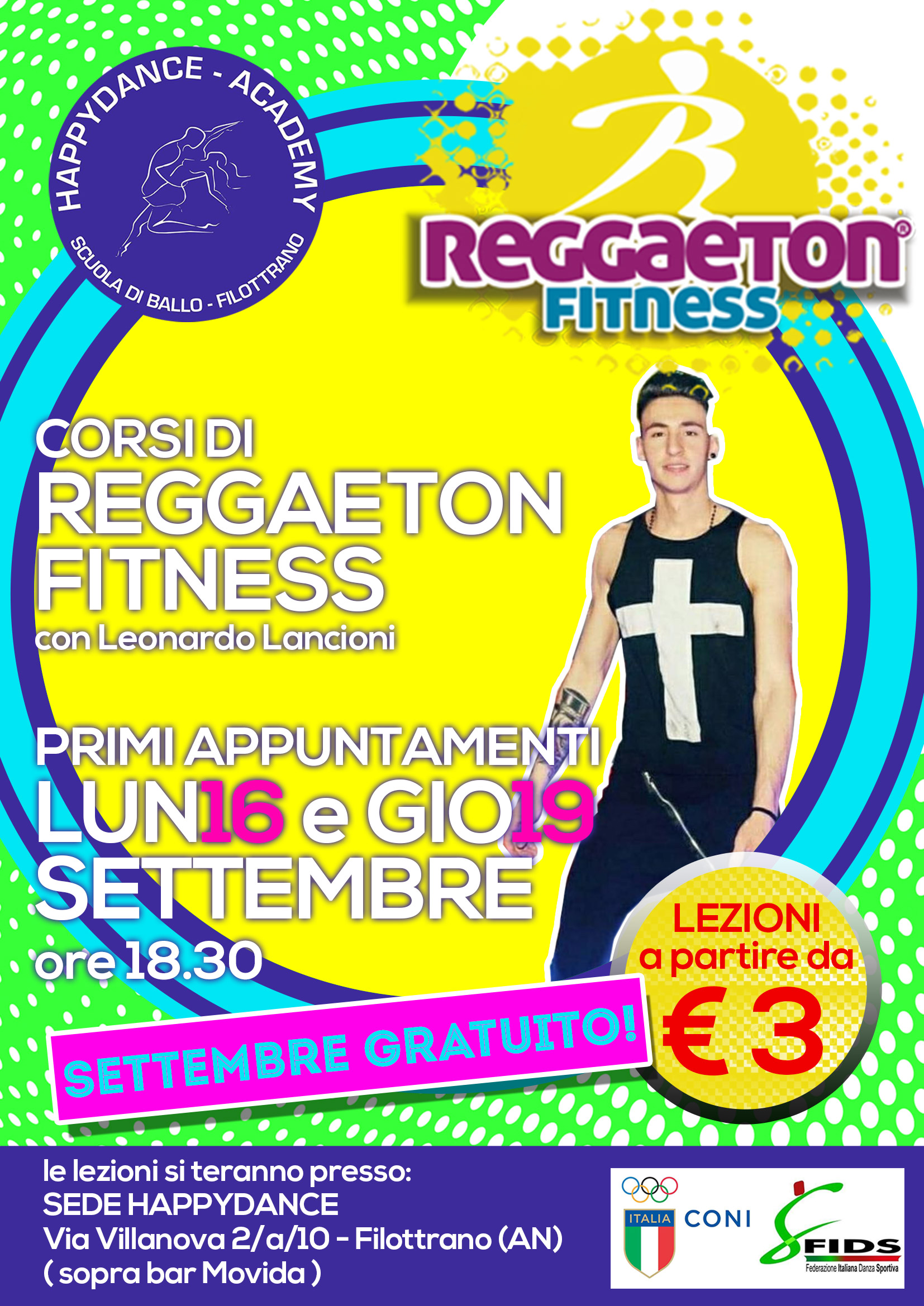 Flyer reggaeton fitness
